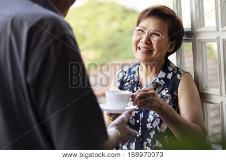 Senior Couple Daily Lifestyle Happiness
