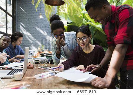 Friends People Group Teamwork Diversity