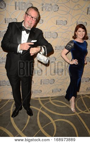 LOS ANGELES - JAN 8:  Chris Haston, Kate Flannery at the HBO Golden Globes After-Party at Circa 55 at Beverly Hilton Hotel on January 8, 2017 in Beverly Hills, CA