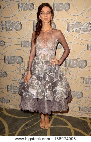 LOS ANGELES - JAN 8:  Angela Sarafyan at the HBO Golden Globes After-Party at Circa 55 at Beverly Hilton Hotel on January 8, 2017 in Beverly Hills, CA