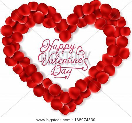 Vector illustration of Valentine background with beautiful hearth