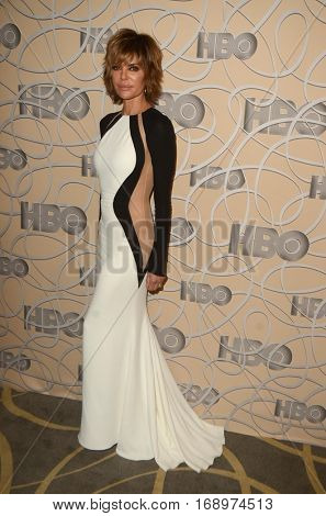 LOS ANGELES - JAN 8:  Lisa Rinna at the HBO Golden Globes After-Party at Circa 55 at Beverly Hilton Hotel on January 8, 2017 in Beverly Hills, CA