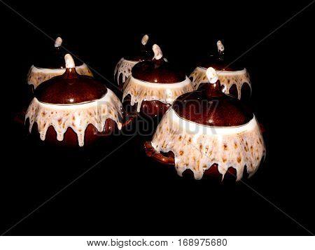 Old vintage Porcelain, made in Soviet times.