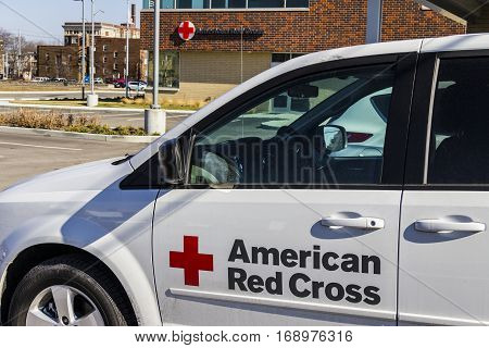Indianapolis - Circa February 2017: American Red Cross Disaster Relief Van. The American National Red Cross provides emergency assistance and disaster relief VI