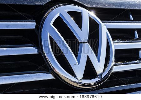 Indianapolis - Circa February 2017: Volkswagen Cars and SUV Dealership. VW is Among the World's Largest Car Manufacturers VI