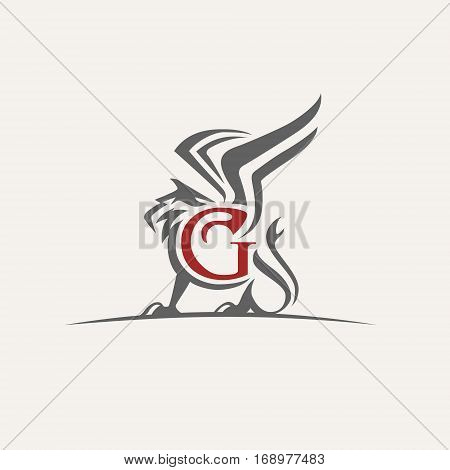 griffin vector logo illustrations icon monochrome arts