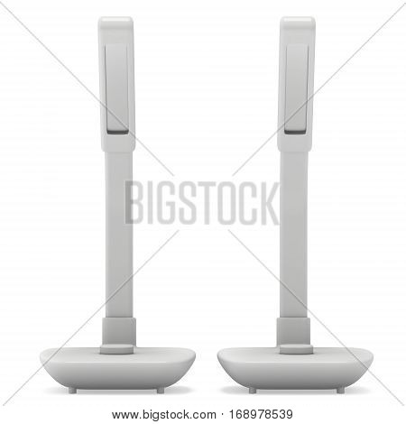 Led Sensor Desk Lamps. 3D render isolated on white background. Template for Object Presentation.