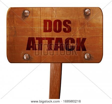 DOS warfare background, 3D rendering, text on wooden sign