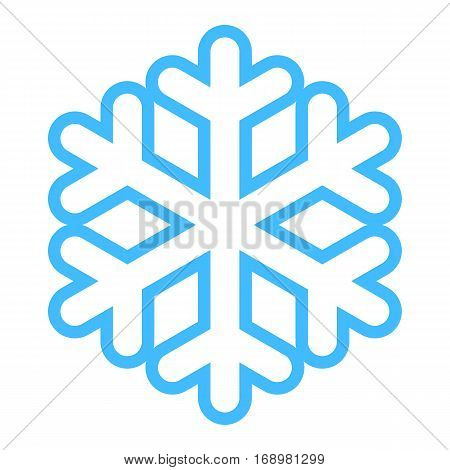 Use it in all your designs. Snowflake low temperature symbol. Quick and easy recolorable shape. Vector illustration a graphic element
