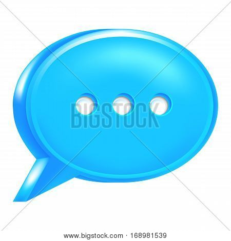 Use it in all your designs. Blue speech bubble icon with chat room sign.
