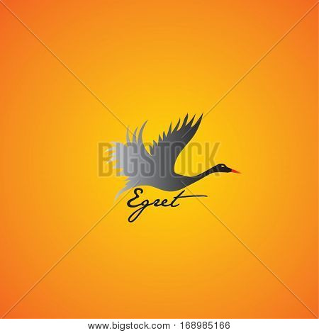 egret  ideas design vector illustration on background