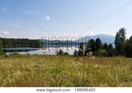 Beautiful siberian lakes. Tagasuk lake. Siberia, Russia