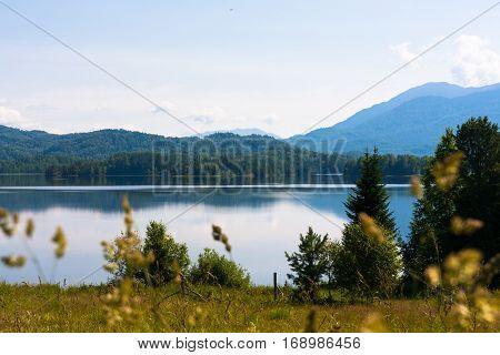 Tagasuk lake. Beautiful siberian lake. Siberia, Russia