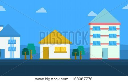 Landscape of house collection stock vector art