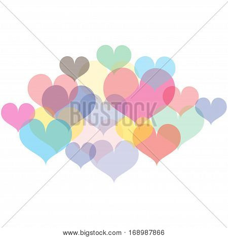 Background colorful of the heart vector combinations.
