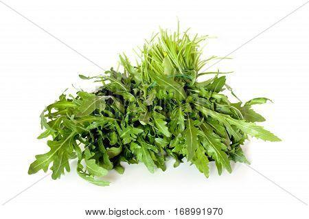 Rocket Salad Isolated