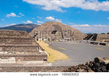 The Pyramids at Teotihuacan, a major archaelogical site near Mexico City