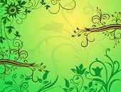 spring background with with floral ornamental pattern poster