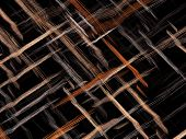 Fractal background or texture with chaos interwoven threads like mat or fabric. Abstract computer-generated image for backdrops, covers, web design. poster