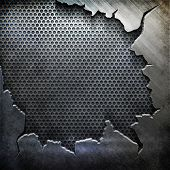 crack metal background template (big pack) poster