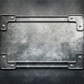 metal construction background(big template pack) poster