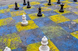 Hdr Public Chessboard In Warsaw