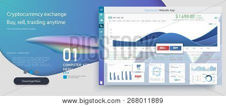 Creative Vector Illustration Of Web Dashboard Infographic Template.online Statistics And Data Analyt