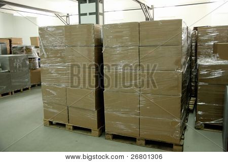 an image of cardboards stack in a row