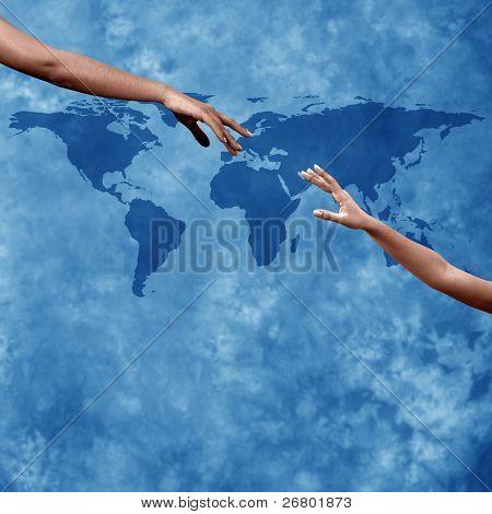 cierre toma de manos alcanzar mutuamente