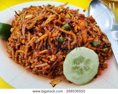 Malaysian Cuisine, Fried Noodle, Also Know As Mee Goreng Mamak