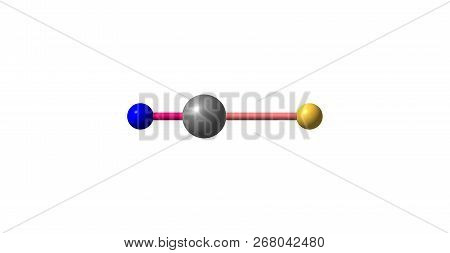 Cyanogen bromide is the inorganic compound. It is a colorless solid that is widely used to modify biopolymers, fragment proteins and peptides. 3d illustration poster