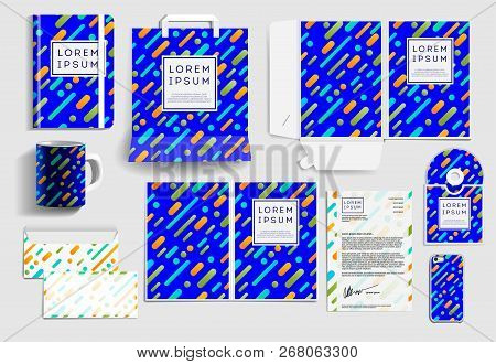 Corporate Identity Business Items. Editable Corporate Identity Template Design. Vector Icons Office