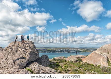 West Coast National Park, South Africa, August 20, 2018: Tourists At The Perlemoen Lookout Point At