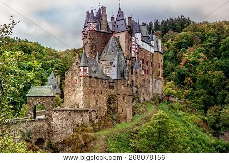 Burg Eltz In The Eifel One Of The Most Famous Castles In Germany Rhineland Palatinate