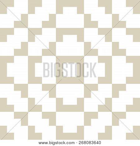 Golden Vector Geometric Traditional Ornament. Fair Isle Seamless Pattern. Tribal Ethnic Motif. Ornam