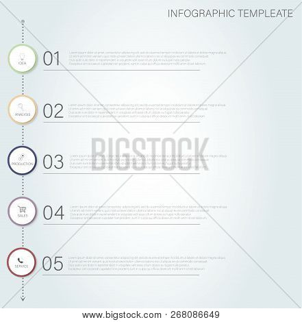 Timeline Infographic. Modern Infographic Timeline. Vector Timeline Infographic. Process Chart Infogr