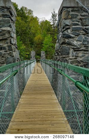 Swinging Bridge At Jay Cooke State Park In Minnesota