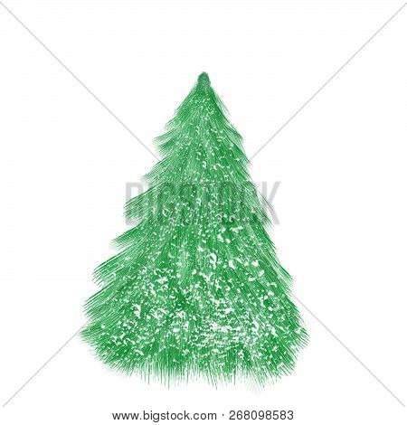 Isolated Christmas Tree On The White Background