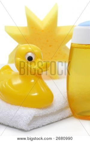Yellow Baby Spa On White