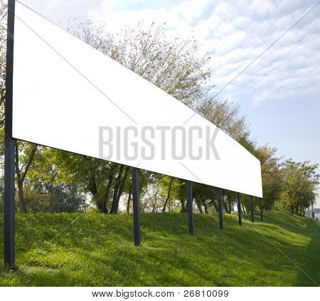 blank billboard in the beautiful landscape, appropriate for your ad