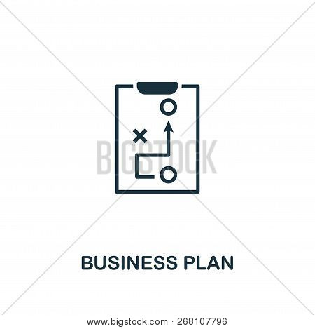 Business Plan Icon. Premium Style Design From Startup Icon Collection. Ui And Ux. Pixel Perfect Busi
