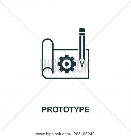 Prototype Icon. Premium Style Design From Startup Icon Collection. Ui And Ux. Pixel Perfect Prototyp
