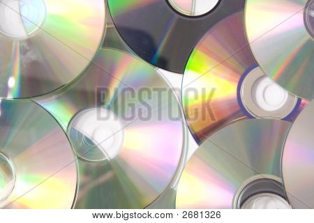 Cd or DVD romes on a white poster