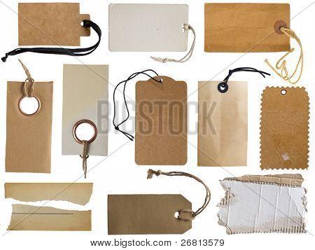 Sammlung von verschiedenen tags