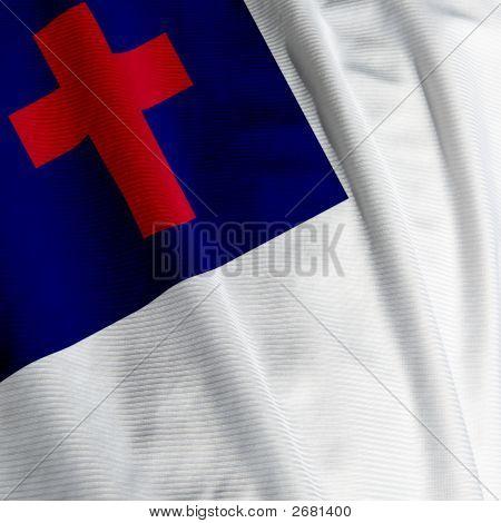 Christian Flag Closeup