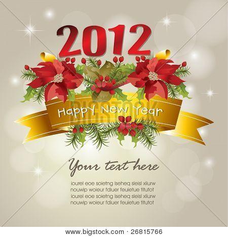 Fundo de celebração de ano novo de 2012