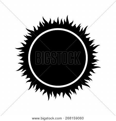 Sun Icon, Vector Sun On White Background, Sun Design Image Vector Eps10, Sun Element White Black