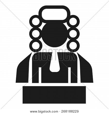 Judge Man Icon. Simple Illustration Of Judge Man Vector Icon For Web Design Isolated On White Backgr
