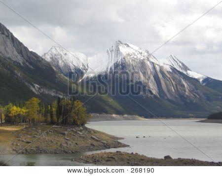 Medicine Lake, South Side  Jasper National Park, Alberta, Canada