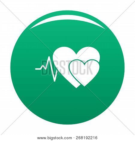 Cardiology Icon. Simple Illustration Of Cardiology Vector Icon For Any Design Green
